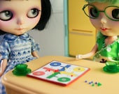 Parcheesi with snakes and ladders ludos for Blythe