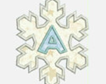 Snowflake Alphabet A-Z...Embroidery Applique Design...Two sizes for multiple hoops...Item1378...INSTANT DOWNLOAD
