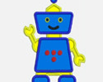 Robot...Embroidery Applique Design ...Three sizes for multiple hoops...Item1376...INSTANT DOWNLOAD