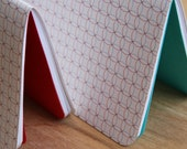 Tessellated Pocket Sketchbooks - Eco-friendly, Recycled eco note pads, perfect gift for artists, architects, students