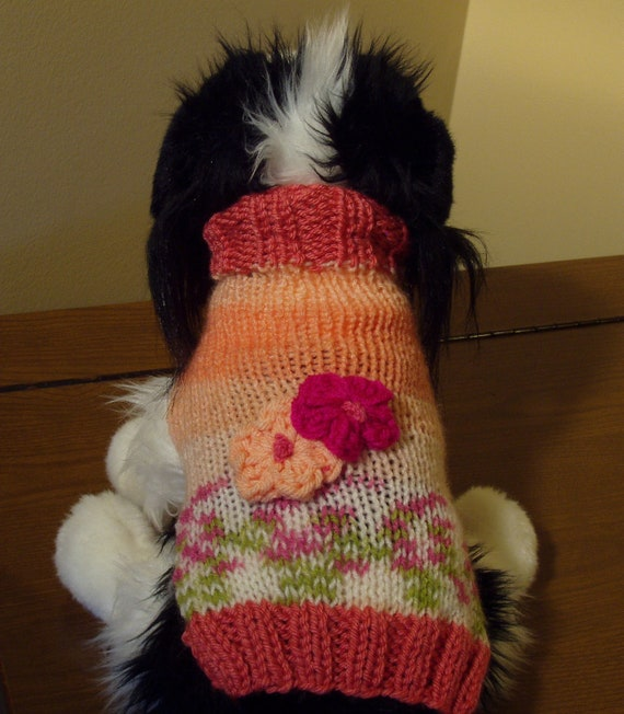 Dog Sweater Hand Knit Lilly XX Small SALE