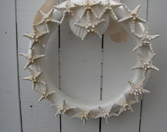 Sea Shell Wreath  Shabby Chic   Cottage Wreath   Nautical Wreath   Sea Shore Decor   NOW ON SALE