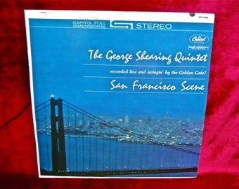The GEORGE SHEARING QUINTET - San Francisco Scene - 1962 Vintage Vinyl Record Album