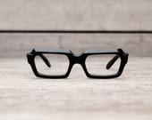 thick black eyeglasses // stenzel frame italy