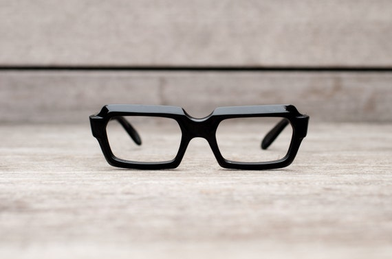 Glasses Frames From Italy : thick black eyeglasses // stenzel frame italy