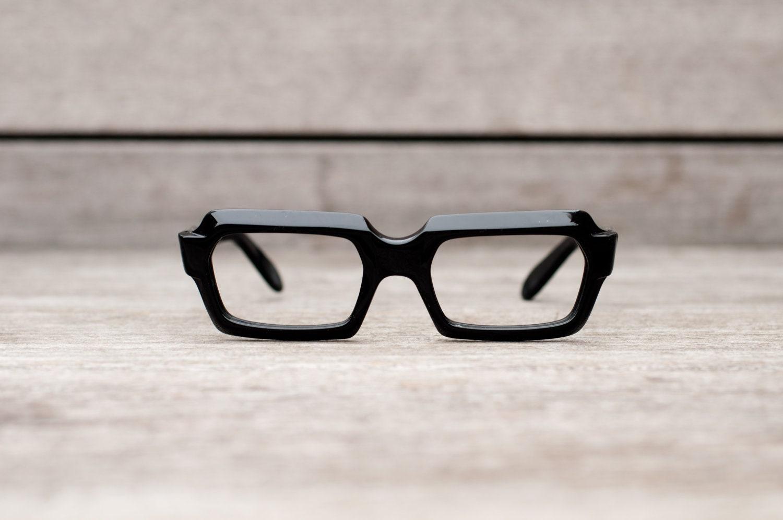 Glasses Frame For Thick Lenses : thick black eyeglasses // stenzel frame italy