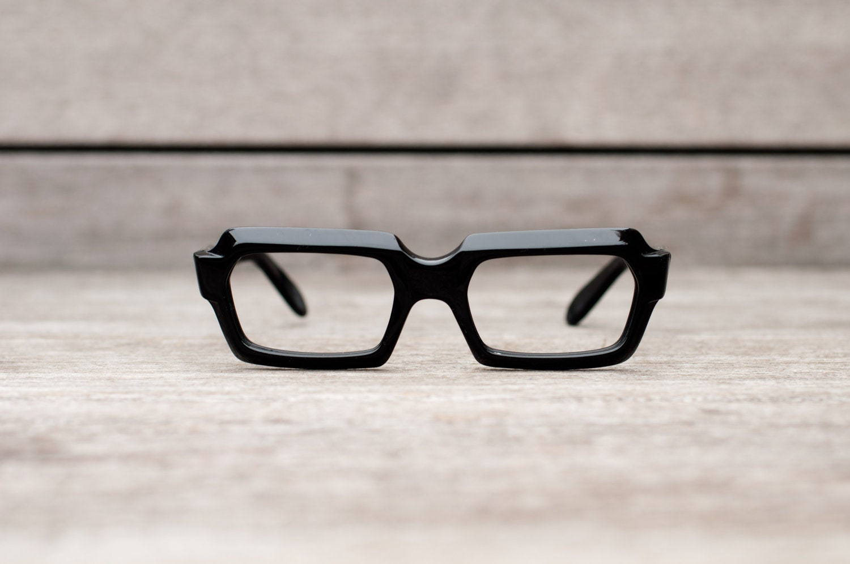 Thick Frame Glasses Black : thick black eyeglasses // stenzel frame italy