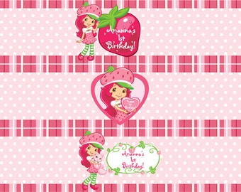 Strawberry Shortcake Water Bottle Labels