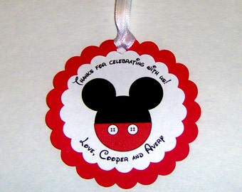 Mickey Mouse Favor Tag