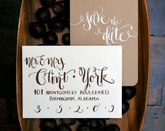 Wedding Calligraphy -- Hand Written Envelope Addressing -- The Zoe Font