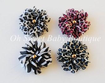 Chiffon Petal Flowers (Garden Party/Animal) QTY 24
