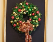 Red, Green, and Gold 24 Inch Christmas Wreath Clearance Priced thru Dec 14