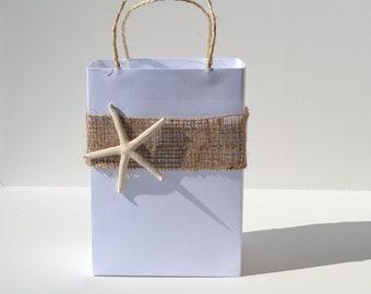 Elegant bridal  party favor bag, great for your beach wedding