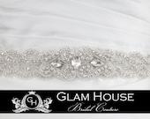 Sparkling Wedding Sash- Jeweled and Beaded