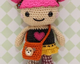 Amigurumi Crochet Pattern - Harajuku Girl Sakura