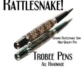 Rattlesnake Skin Pen - ballpoint made of real snakeskin, made by hand, custom top quality