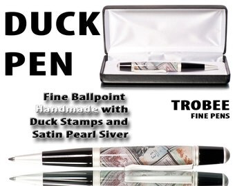 Gift for a hunter and or collector Pen with Duck Stamps in Acrylic - Ballpoint