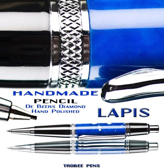 Mechanical Pencil Blue lapis trustone pencil