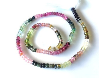 DEAL-DEAL-DEAL Last chance to Buy  1 full 14 inch strand of Natural watermelon Tourmaline 2-3mmApprox...