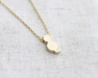 Cute gold Cat  Necklace - S2064-2