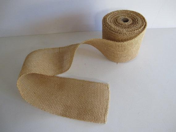 Burlap ribbon for christmas decor or decorating by for Decorating with burlap ribbon for christmas