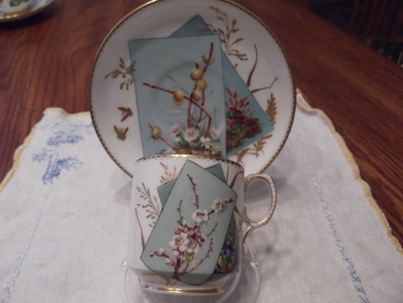 Demitasse cup and saucer by George Jones- circa 1876  DS