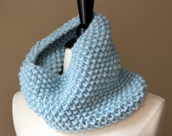 Light Blue Cowl Scarf - Ready To Ship