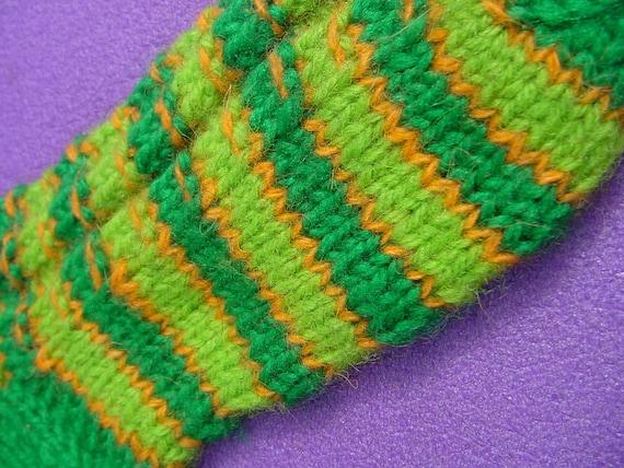 15 cm / 6 inches Hand Knitted Little socks for little people - Slipper Socks
