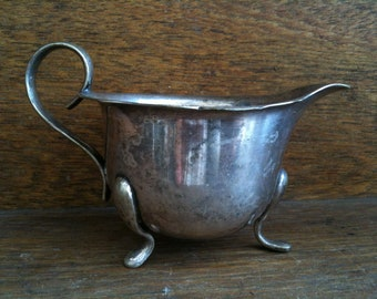 Vintage English Silver Plated Metal Creamer Pitcher Jug circa 1910-1920's / English Shop