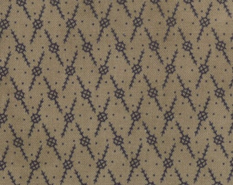 1 Fat Quarter of Independence Trail Indigo Bark Shirt Print by Minick & Simpson for Moda