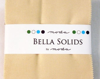 1 Natural Bella Solids Charm Pack by Moda