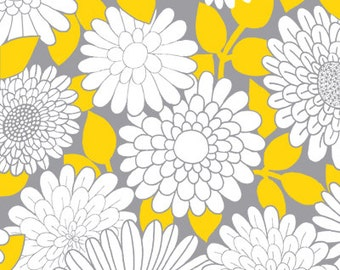 SALE 1 Yard Cruzin' Yellow Blossoms by Barbara Jones of QuiltSoup for Henry Glass