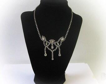 Vintage Diamond Rhinestone Necklace