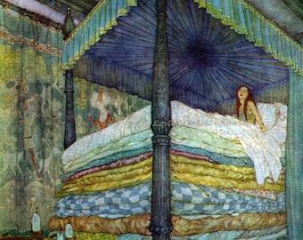 Princess Fridge Magnet - Hans Handersen Fairy Tale - Edmund Dulac