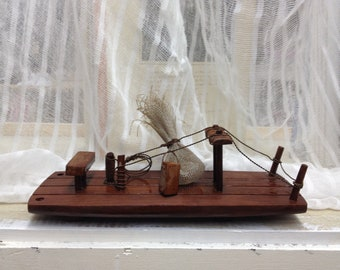 Vintage Wooden Nautical Ship Fascinating Rustic Cabin or Country Cottage Home Decor
