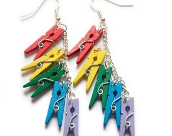 Rainbow Peg Earrings