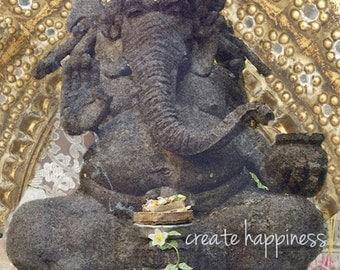 Ganesha Print, Spiritual Art, Bali, Meditation Altar, Hindu Art, Hindu God, Ganesha Photograph, Meditation Room, Yoga Print, Yoga Gift, Bali