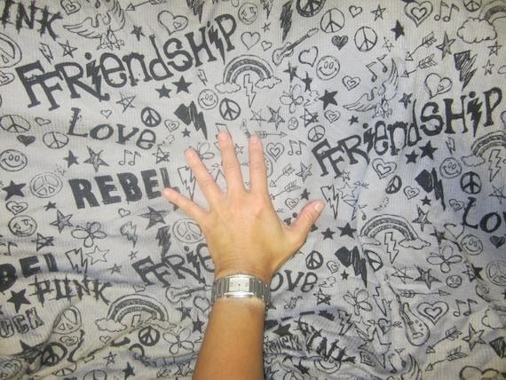 Graffiti punk rebel grey thermal knit