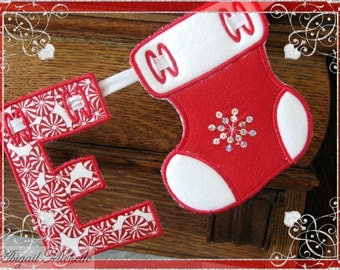 Christmas Stocking Banner Add On - 3 Sizes