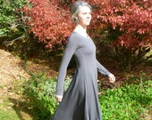 Organic Clothing - Maxi Dress with Scoop Neck - Organic Cotton - Shown in Storm - Made to Order