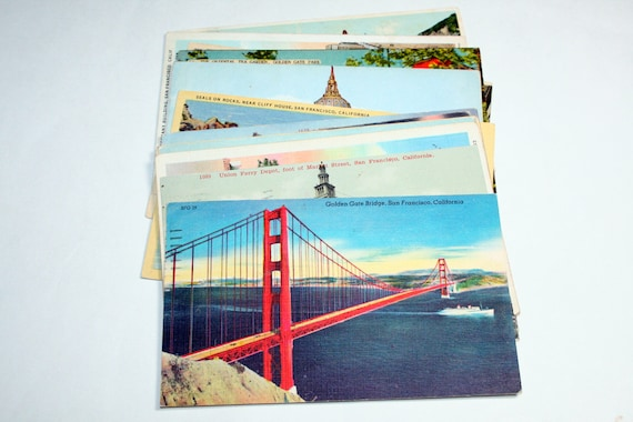 15 Vintage San Francisco California Postcards Used