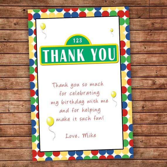 Thank You Quotes For Baby Gift: Personalized Any Wording Thank You Card Polka Dots Birthday
