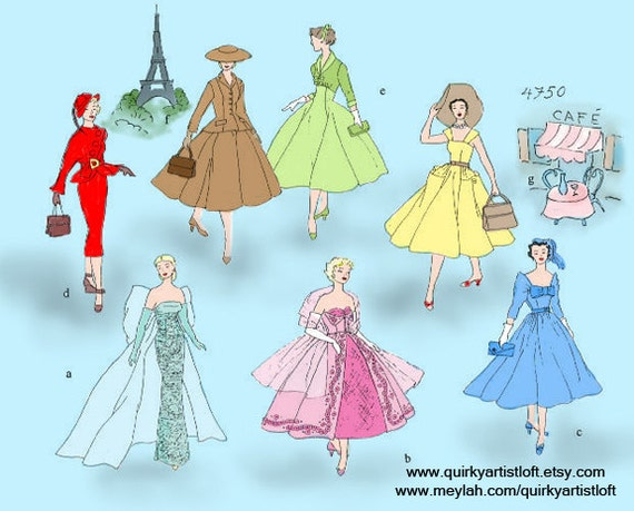 Pattern: Vintage Barbie 'In Paris' - Doll Clothing