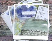 Greeting Card Set: Thank you for the plums (six card set)