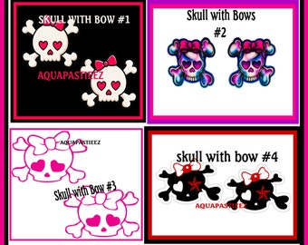 Skull and Crossbones with Bow Pasties, Boobie Stickers, Nipple Covers