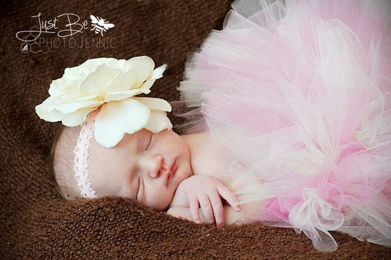 Baby Girl Tutu Set - PRETTY N PINK -  (Newborn Tutu & Ballet Slippers)