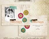 2012 Christmas Card Templates vol.14 -- 7x5 inch card template