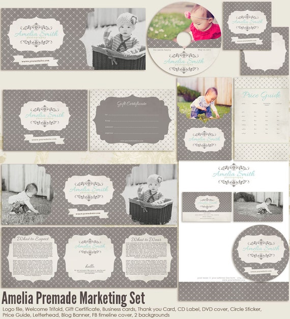 Items similar to amelia premade photography marketing set templates on etsy for Photography marketing templates free
