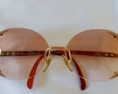 Vintage 80s CHRISTIAN DIOR 2289 Oversize Boho Big Sunglasses in Red - Mint Condition