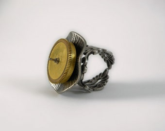 Steampunk~Metal Statement Ring